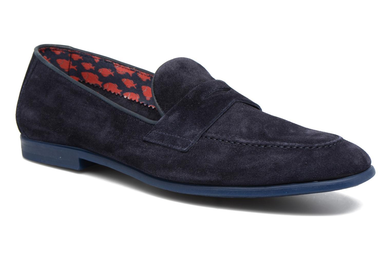 Loafers Doucal's MAURO Elba Bluette Svart detaljerad bild på paret