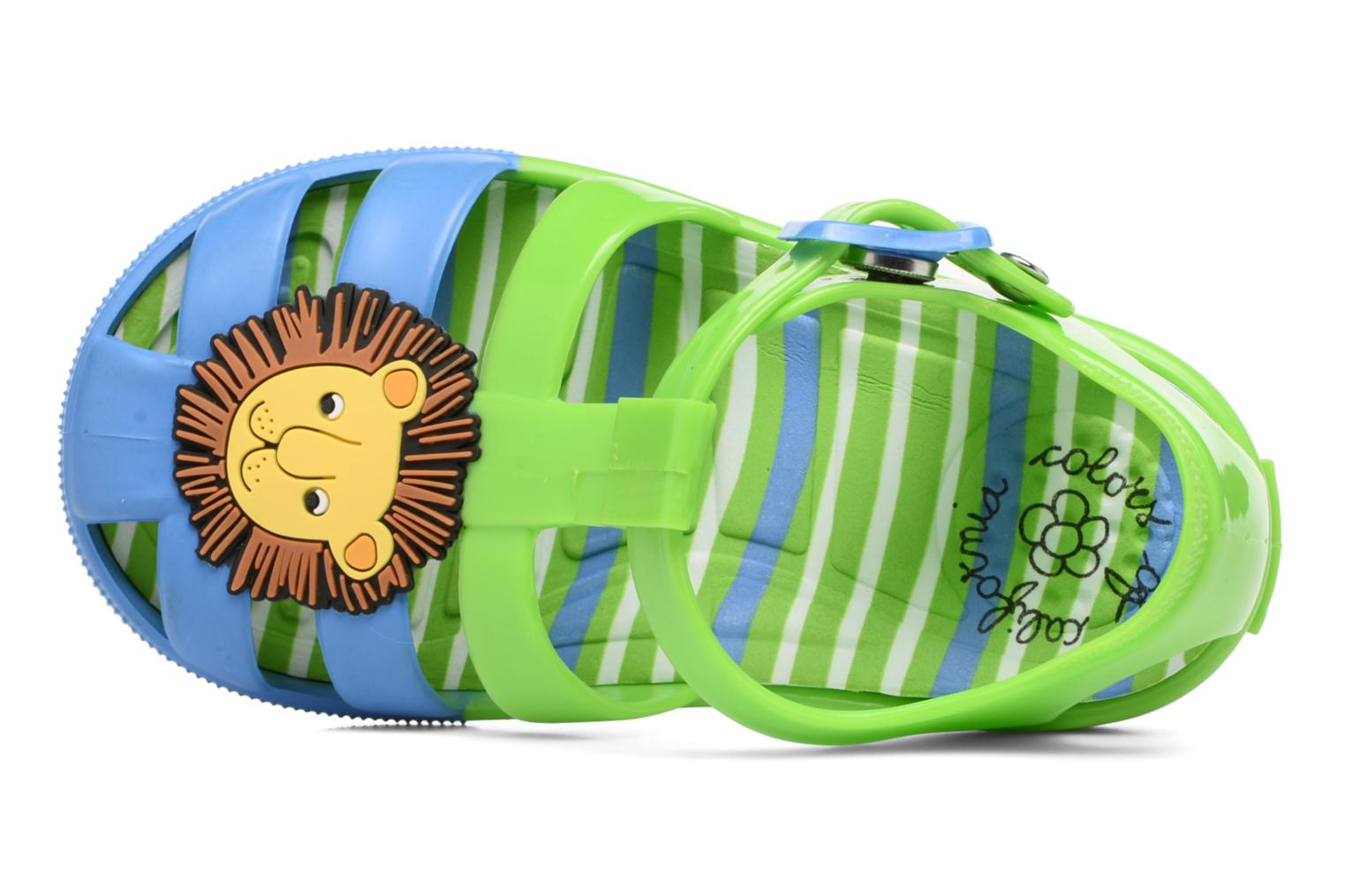 Sandalias Colors of California Jenny sandals LION Verde vista lateral izquierda