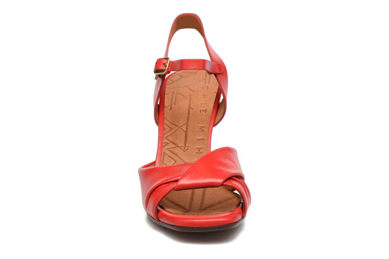 Sandales et nu-pieds Chie Mihara Asha Rouge vue portées chaussures