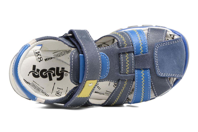Sandales et nu-pieds Bopy Ebriac Bleu vue gauche