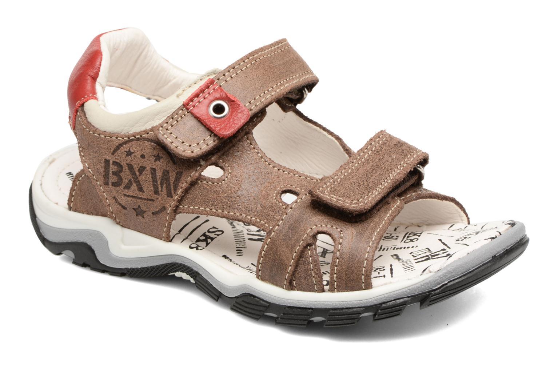 Sandales et nu-pieds Bopy Eblake Marron vue détail/paire