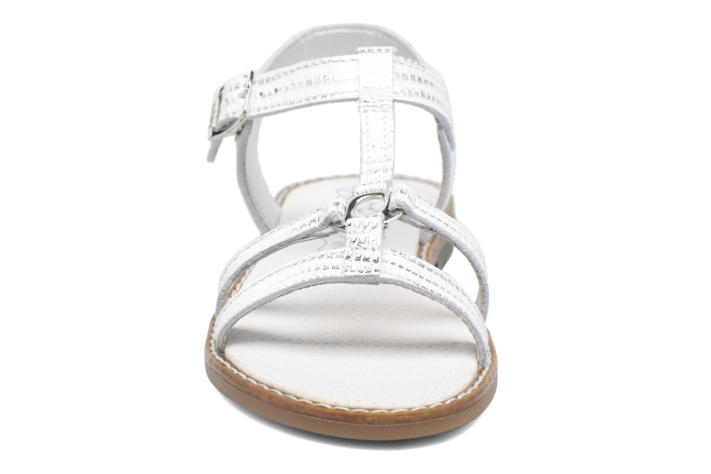 Sandales et nu-pieds Bopy Edelyne Argent vue portées chaussures