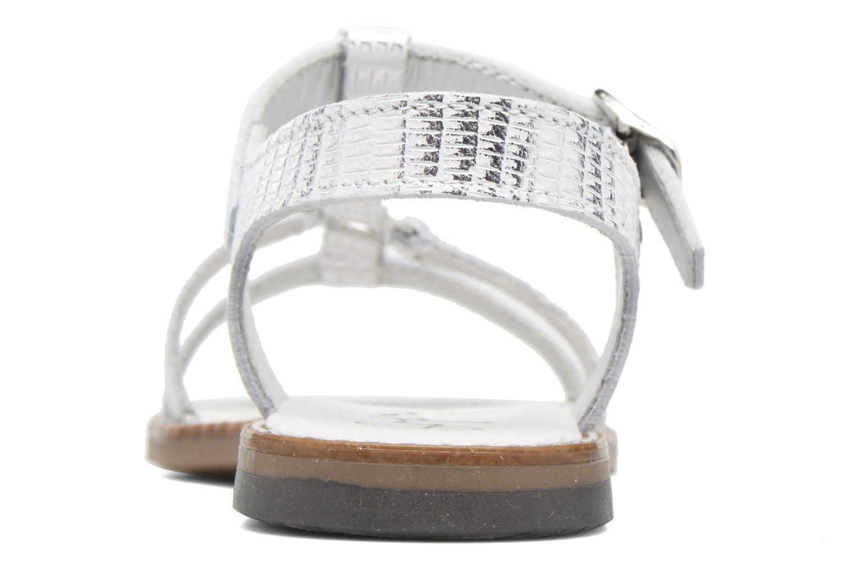 Sandales et nu-pieds Bopy Edelyne Argent vue droite