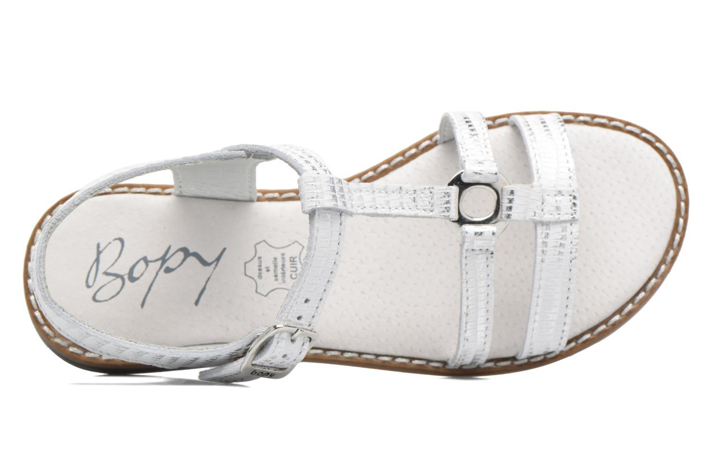 Sandales et nu-pieds Bopy Edelyne Argent vue gauche