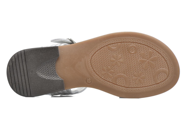 Sandales et nu-pieds Bopy Edelyne Argent vue haut