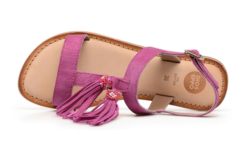 Sandales et nu-pieds Gioseppo Guarani Violet vue gauche