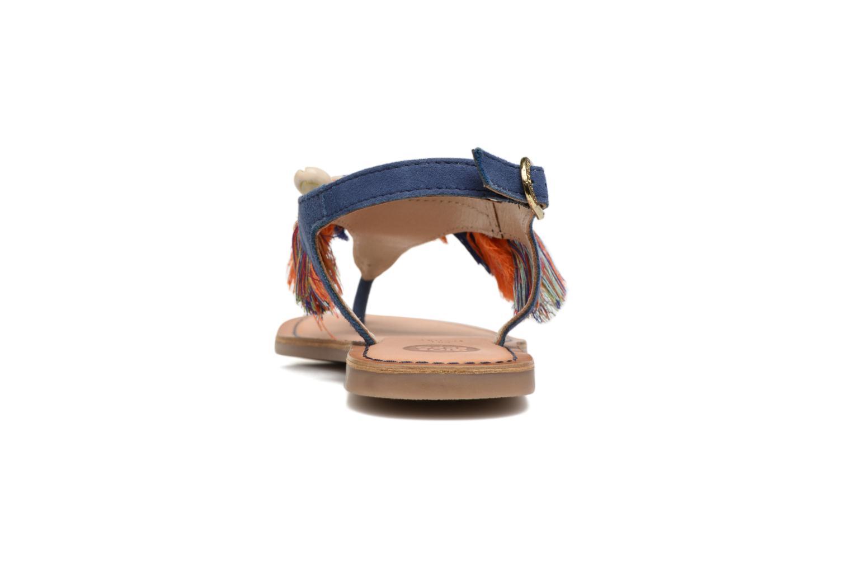 Sandales et nu-pieds Gioseppo Indigena Bleu vue droite
