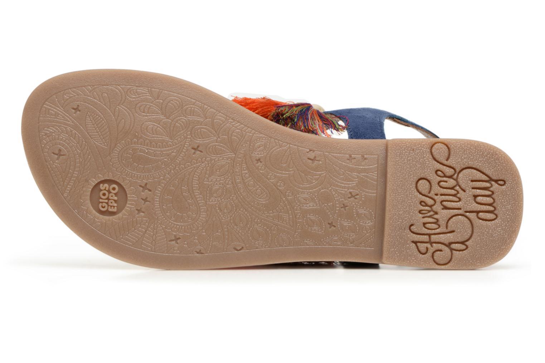 Sandales et nu-pieds Gioseppo Indigena Bleu vue haut