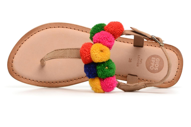 Sandales et nu-pieds Gioseppo Hatae Multicolore vue gauche