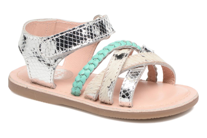 Sandales et nu-pieds Gioseppo Molly Or et bronze vue détail/paire