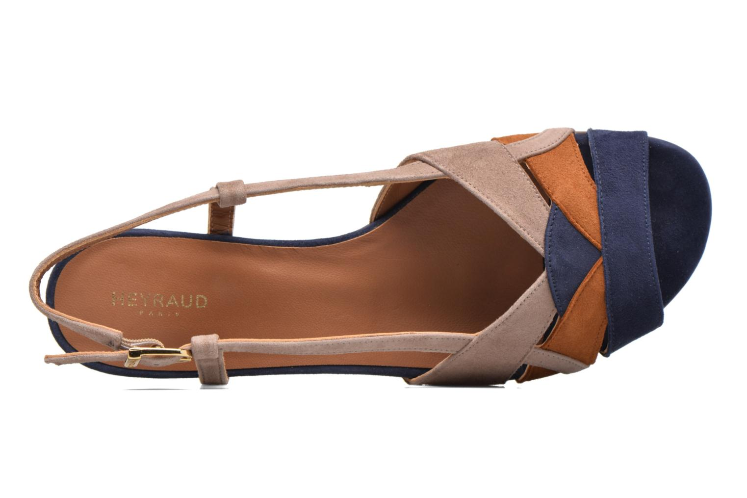 Sandals Heyraud EDNA Multicolor view from the left