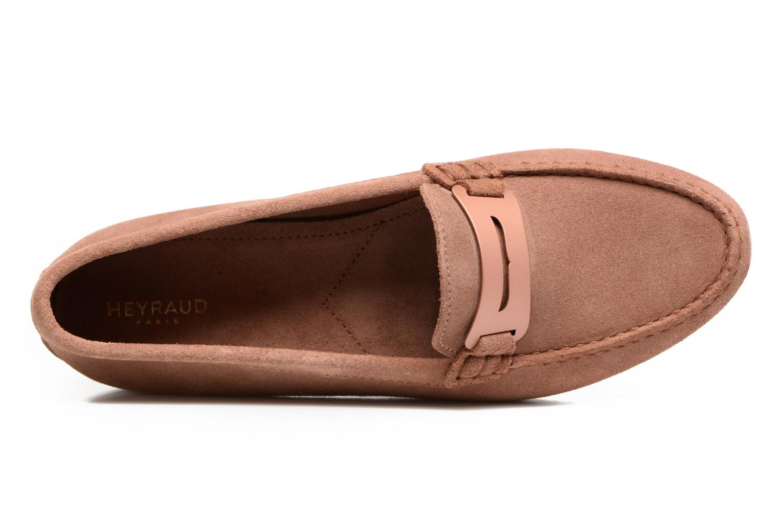 Loafers Heyraud EDWIGE Pink view from the left