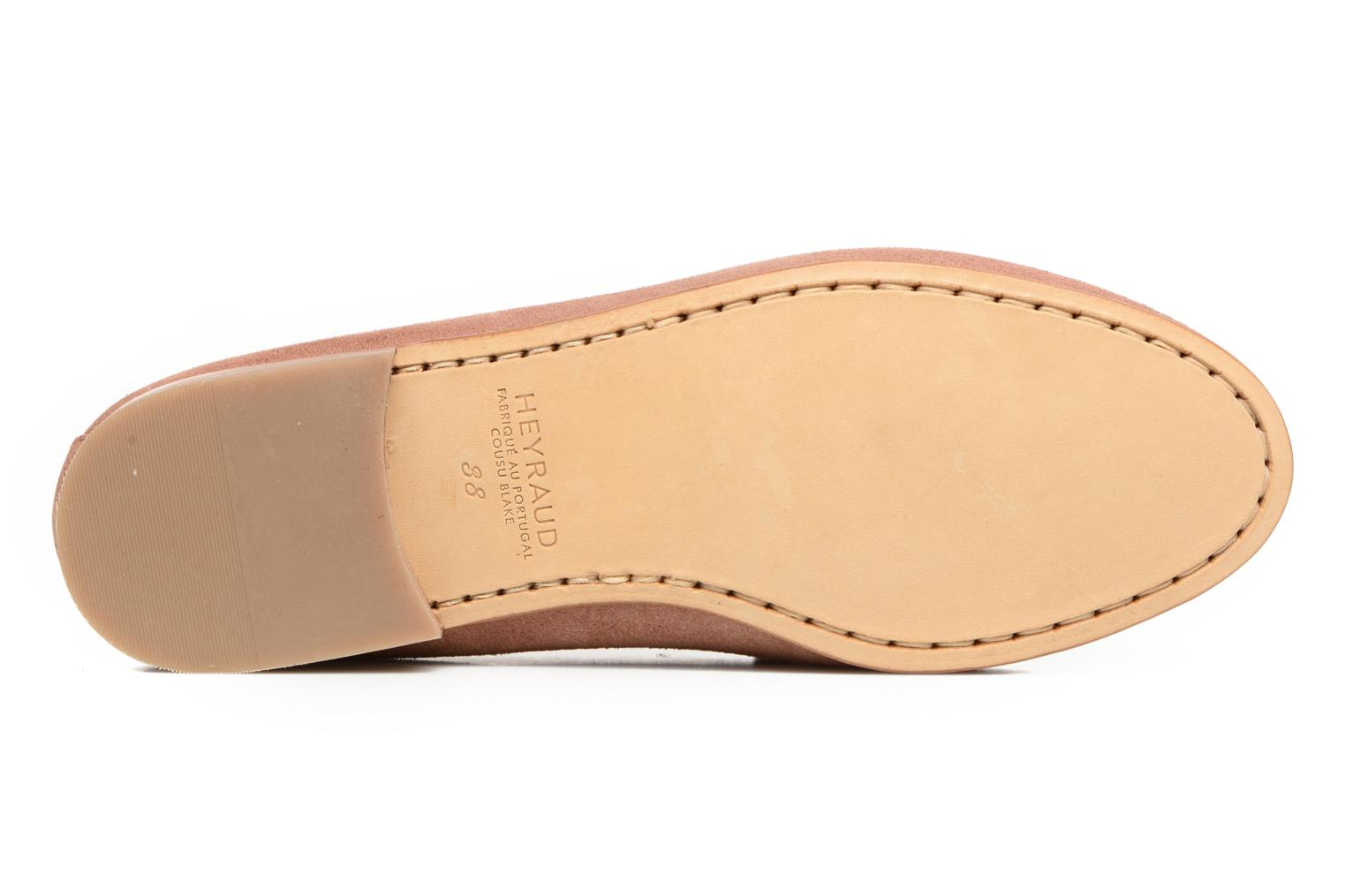 Loafers Heyraud EDWIGE Pink view from above