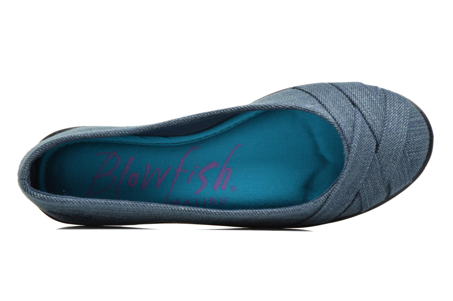 Ballet pumps Blowfish Glo2 Blue view from the left