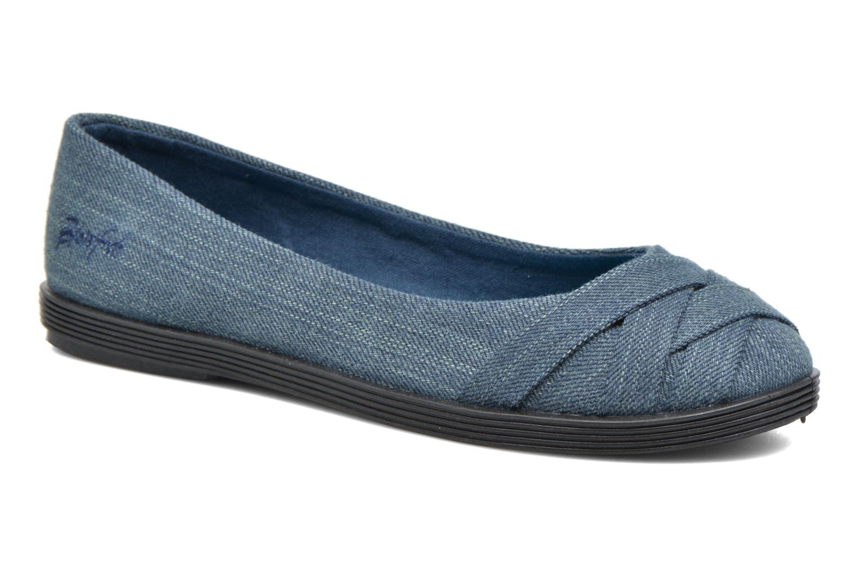 Ballerinaer Blowfish Glo2 Blå detaljeret billede af skoene