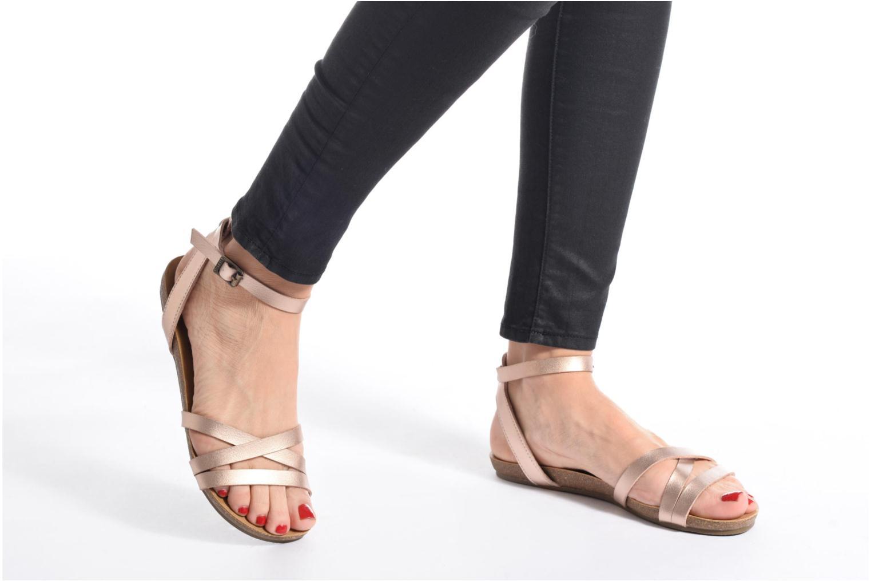 Sandales et nu-pieds Blowfish Galie Rose vue bas / vue portée sac