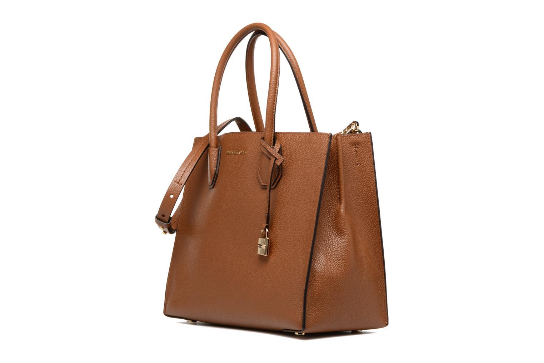 Handbags Michael Michael Kors MERCER LG SATCHEL Brown model view
