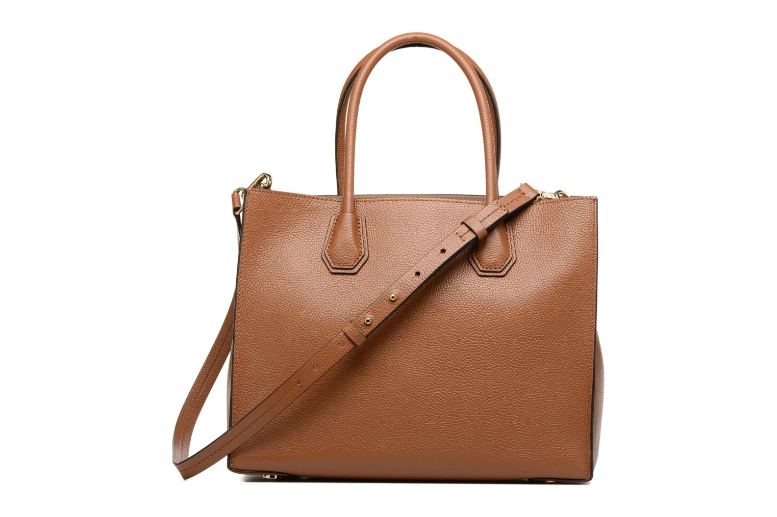 Sacs à main Michael Michael Kors MERCER LG SATCHEL Marron vue face