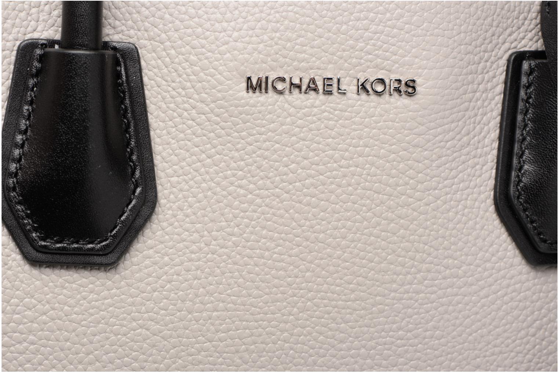 Bolsos de mano Michael Michael Kors MERCER LG SATCHEL Gris vista lateral izquierda