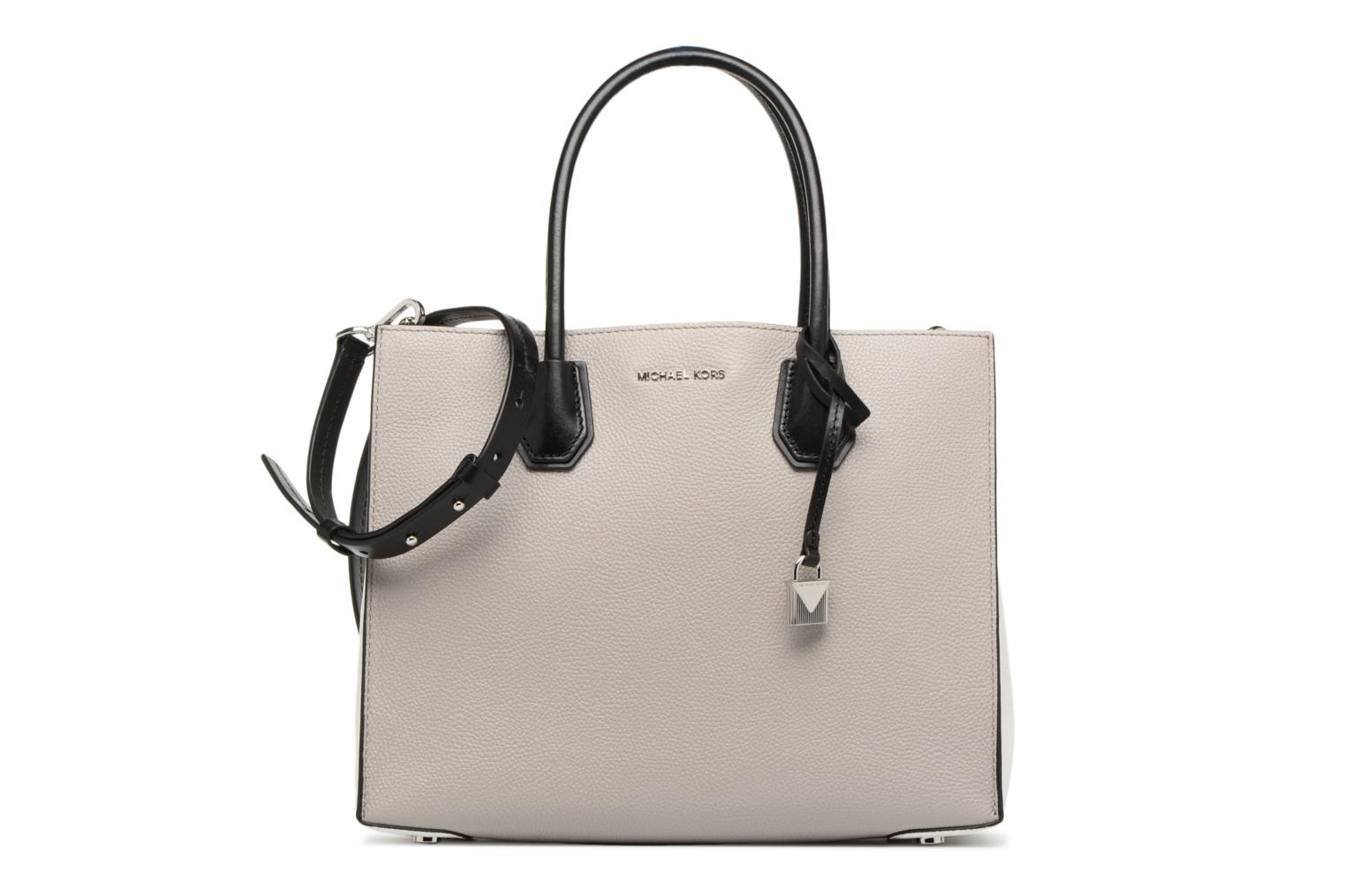 MERCER LG CONV TOTE 154 PEARL GREY OPTIC WHITE BLACK