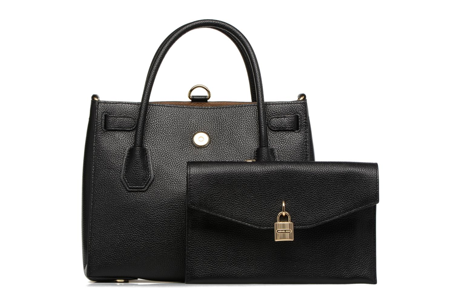 Sacs à main Michael Michael Kors MERCER LG ALL IN ONE BAG Noir vue gauche
