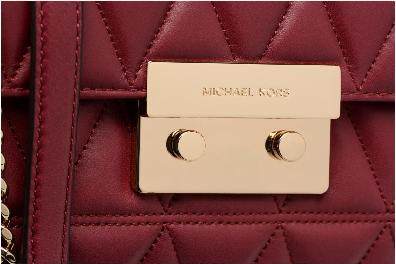 Bolsos de mano Michael Michael Kors SLOAN LG CHAIN SHOULDER Vino vista lateral izquierda