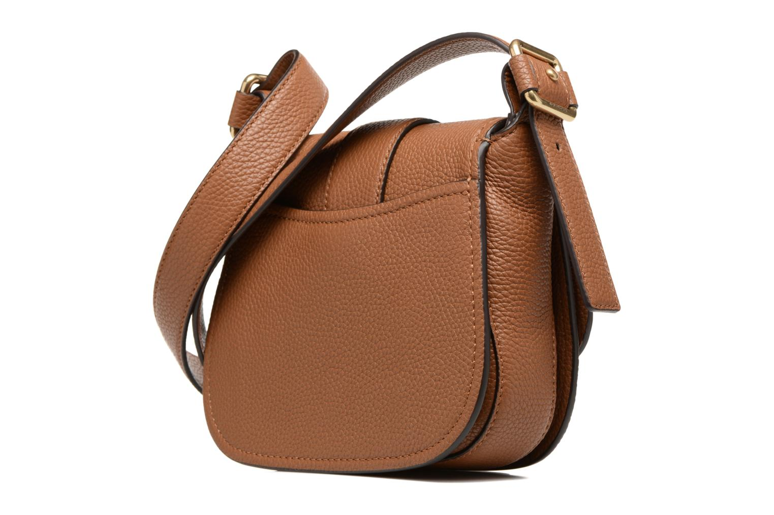 Bolsos de mano Michael Michael Kors MAXINE MD SADDLE BAG Marrón vista lateral derecha