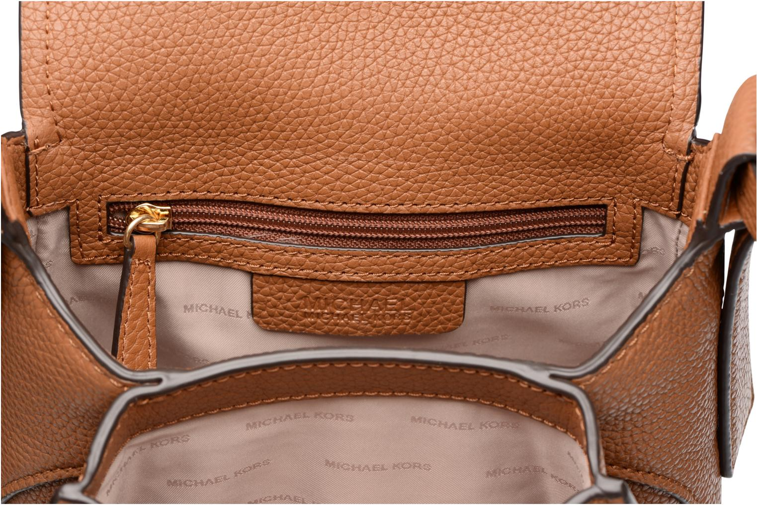 Bolsos de mano Michael Michael Kors MAXINE MD SADDLE BAG Marrón vistra trasera