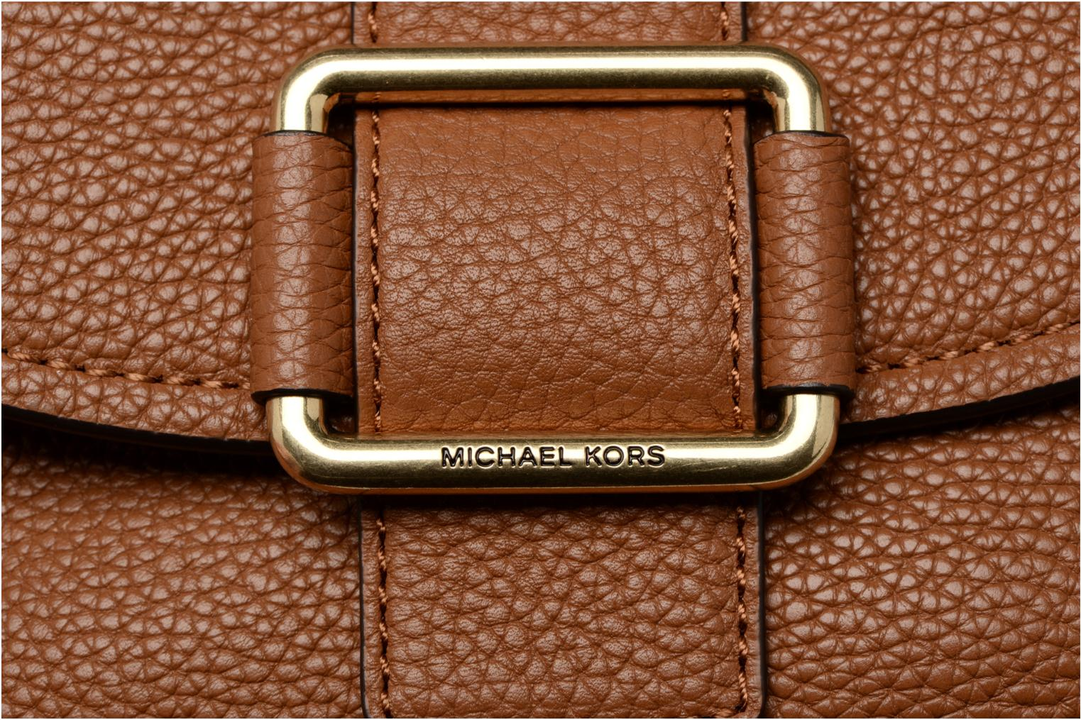 Bolsos de mano Michael Michael Kors MAXINE MD SADDLE BAG Marrón vista lateral izquierda