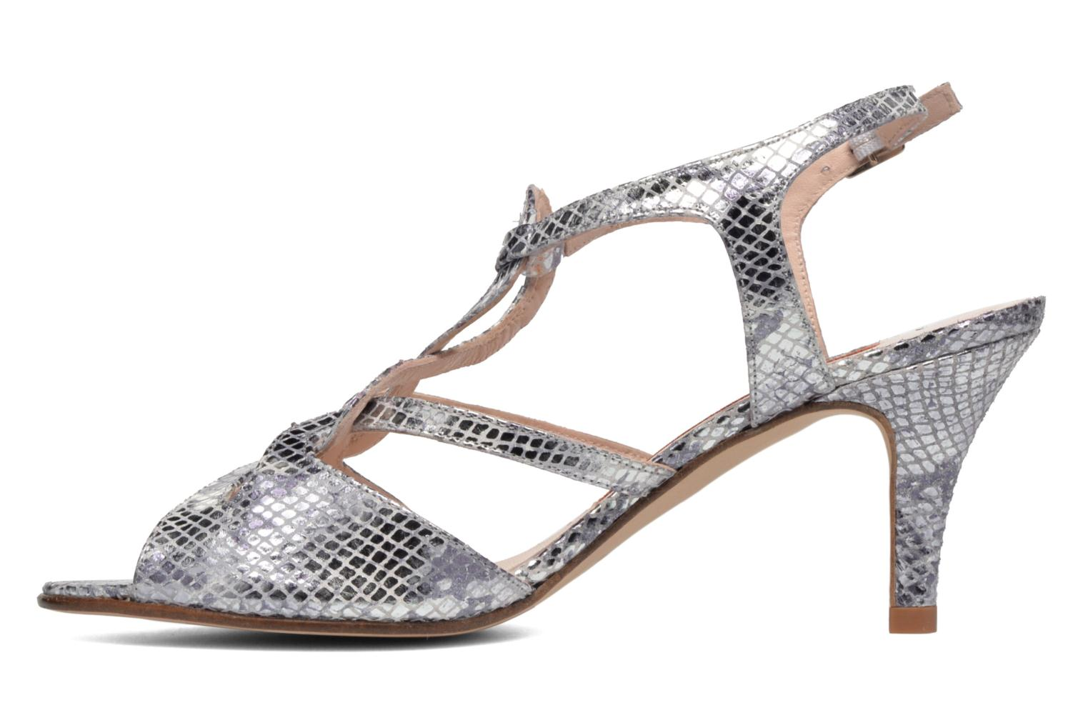 Sandals Anna Volodia Cassandra Silver front view