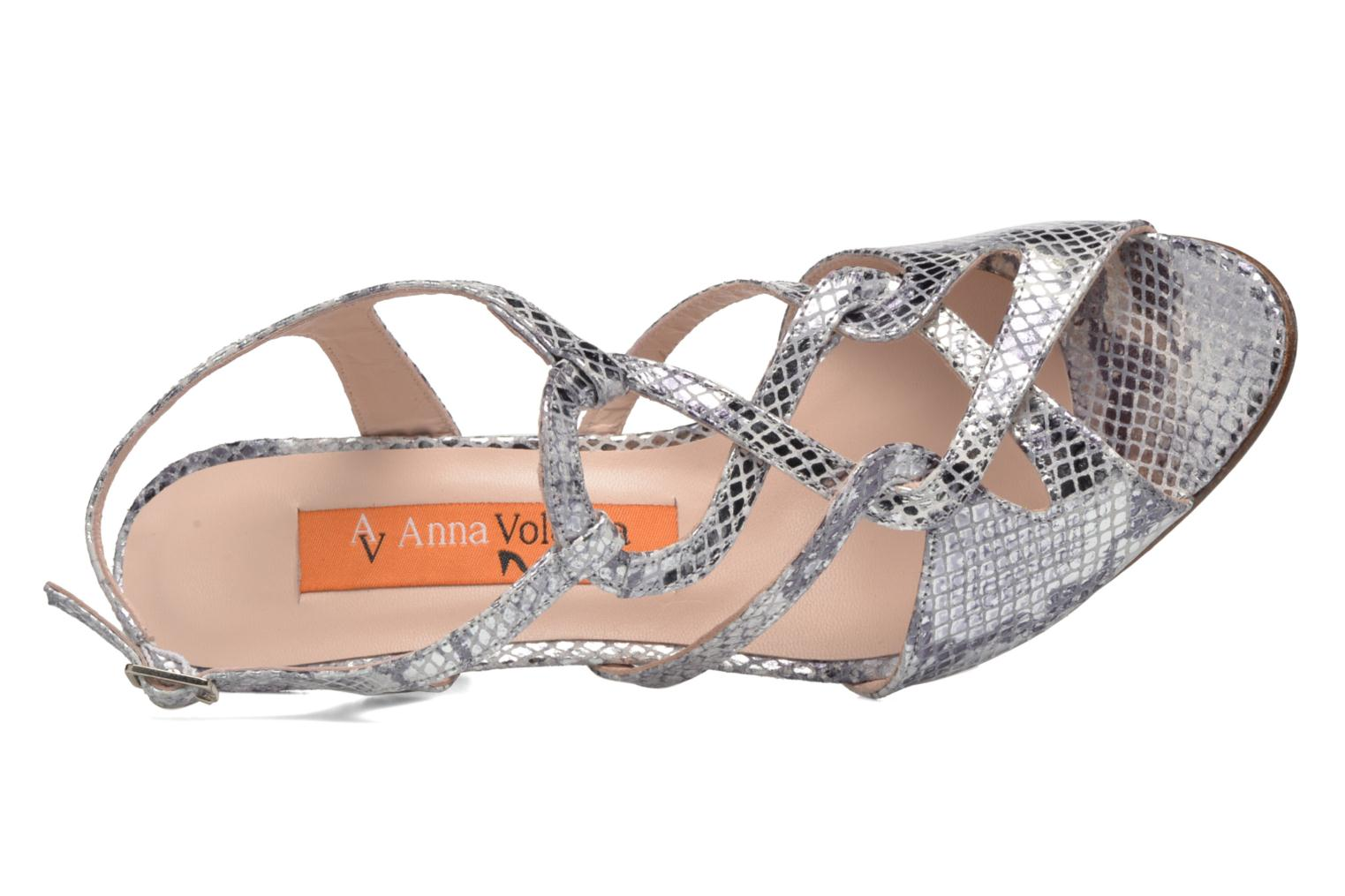 Sandals Anna Volodia Cassandra Silver view from the left