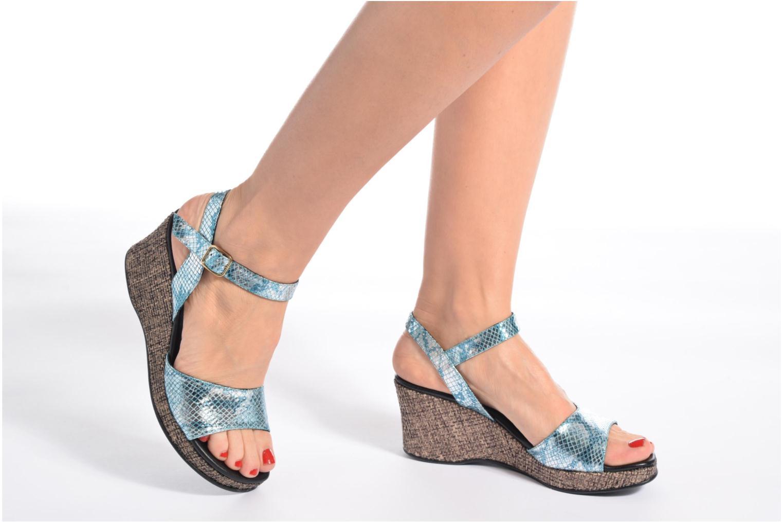 Sandales et nu-pieds Anna Volodia Lola Bleu vue bas / vue portée sac