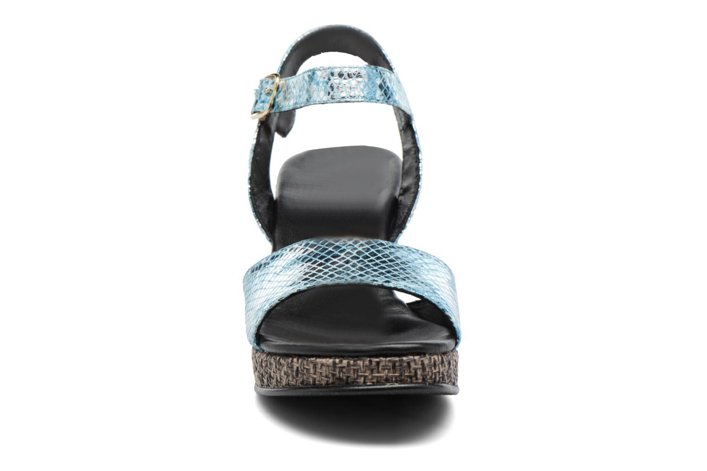 Sandales et nu-pieds Anna Volodia Lola Bleu vue portées chaussures
