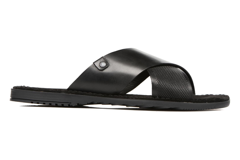 Sandales et nu-pieds Base London Hector Noir vue derrière