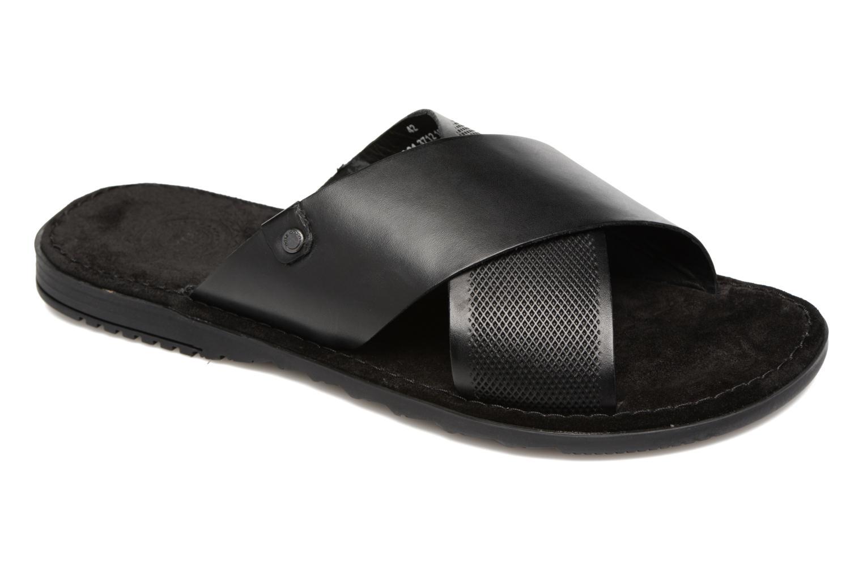 Sandales et nu-pieds Base London Hector Noir vue détail/paire