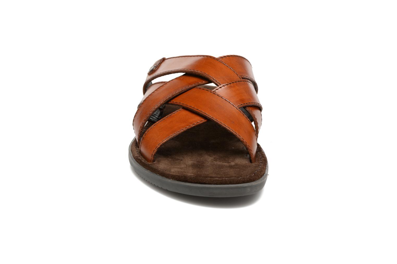 Sandales et nu-pieds Base London Laurent Marron vue portées chaussures