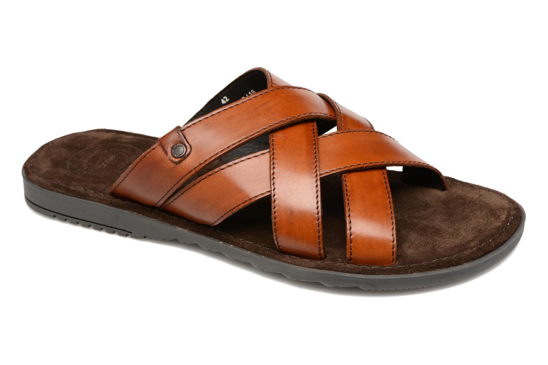 Sandales et nu-pieds en Cuir Marron Base London o1GMQqU