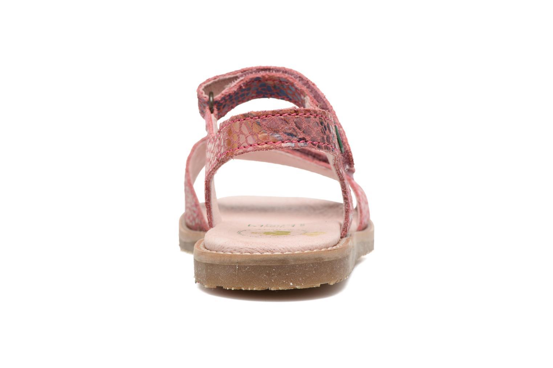 Sandales et nu-pieds El Naturalista Africa E510 Rose vue droite