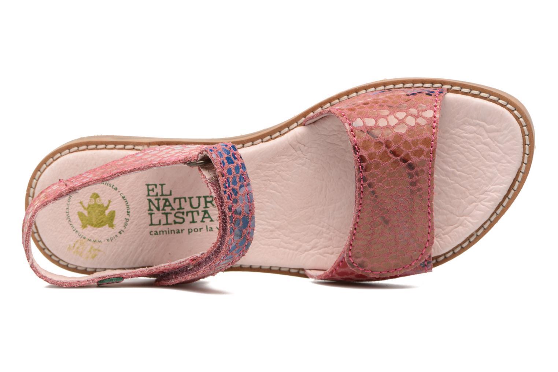 Sandales et nu-pieds El Naturalista Africa E510 Rose vue gauche