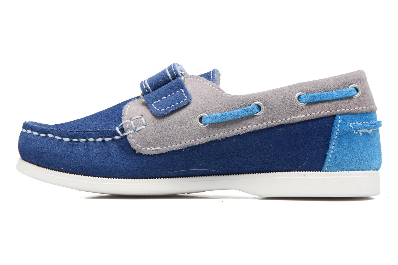 Chaussures à scratch Melania Folco Bleu vue face