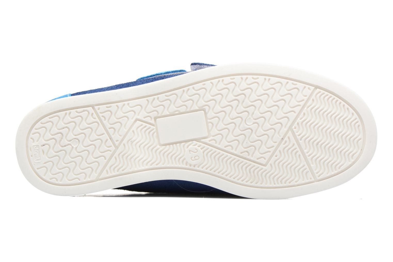 Chaussures à scratch Melania Folco Bleu vue haut