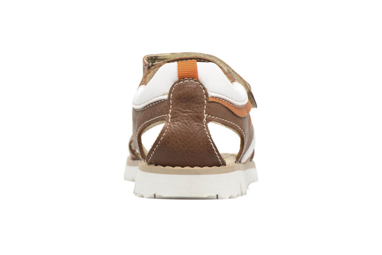 Sandales et nu-pieds Melania Mario Marron vue droite