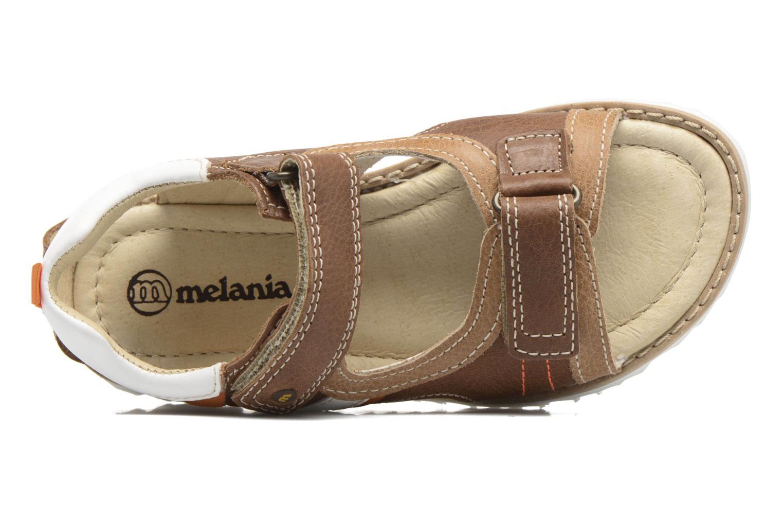 Sandales et nu-pieds Melania Mario Marron vue gauche