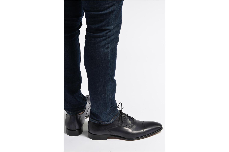 Chaussures à lacets Marvin&Co Luxe Dartford - Cousu Blake Bleu vue bas / vue portée sac