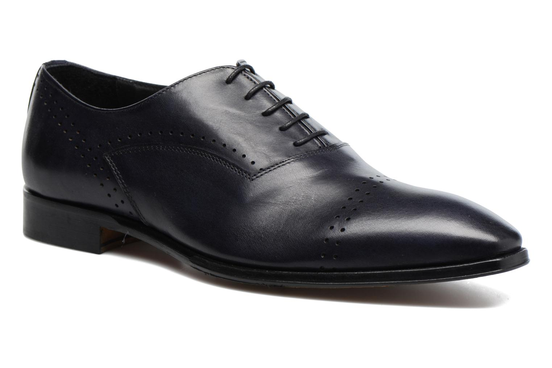 Snörade skor Marvin&Co Luxe Dartford Blå detaljerad bild på paret