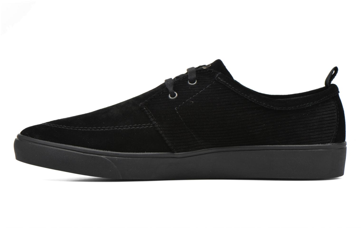 Baskets Fred Perry Shields Corduroy Suede Noir vue face