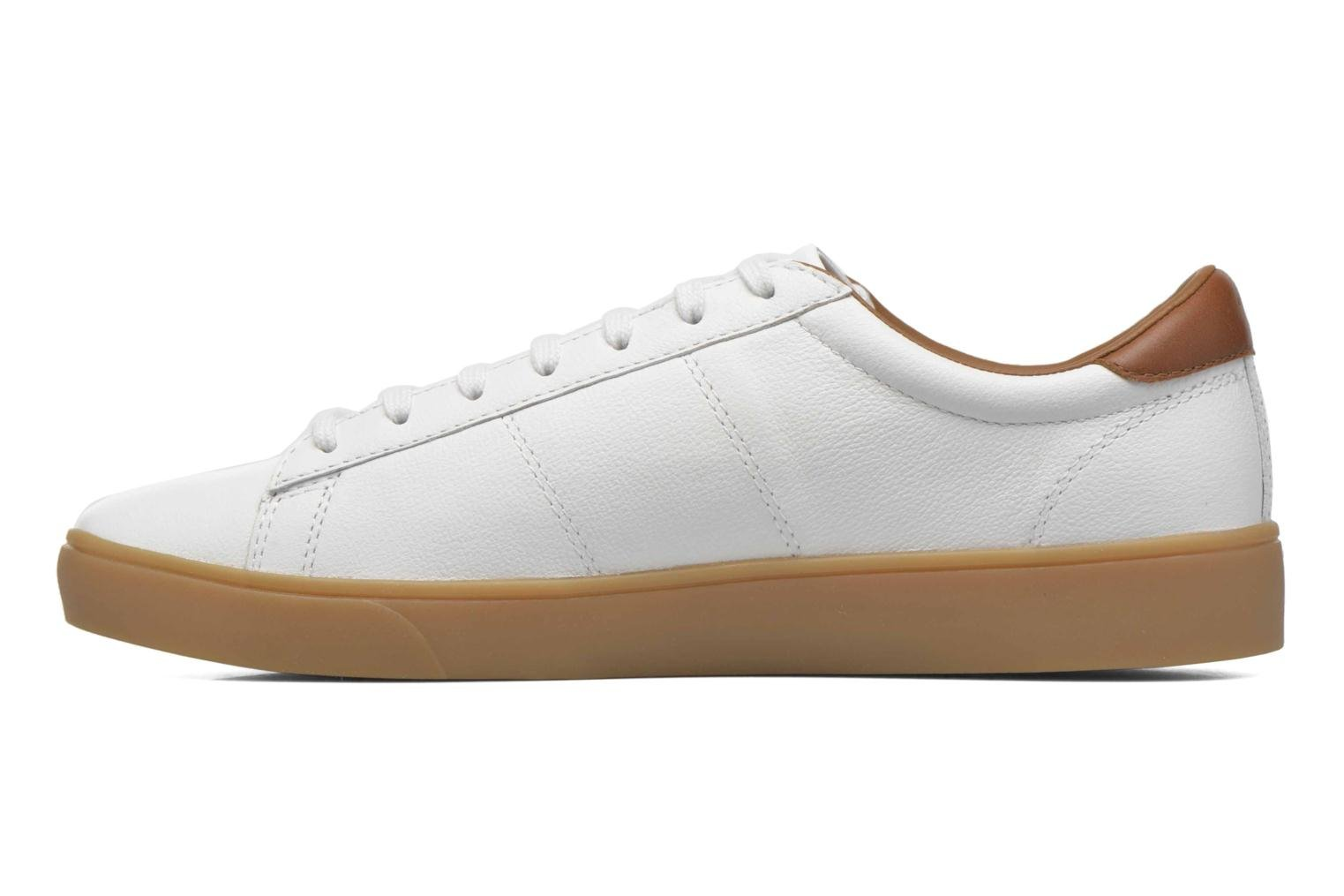 Baskets Fred Perry Spencer Tumbled Leather Blanc vue face