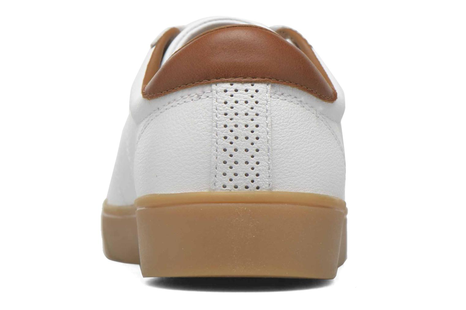 Baskets Fred Perry Spencer Tumbled Leather Blanc vue droite