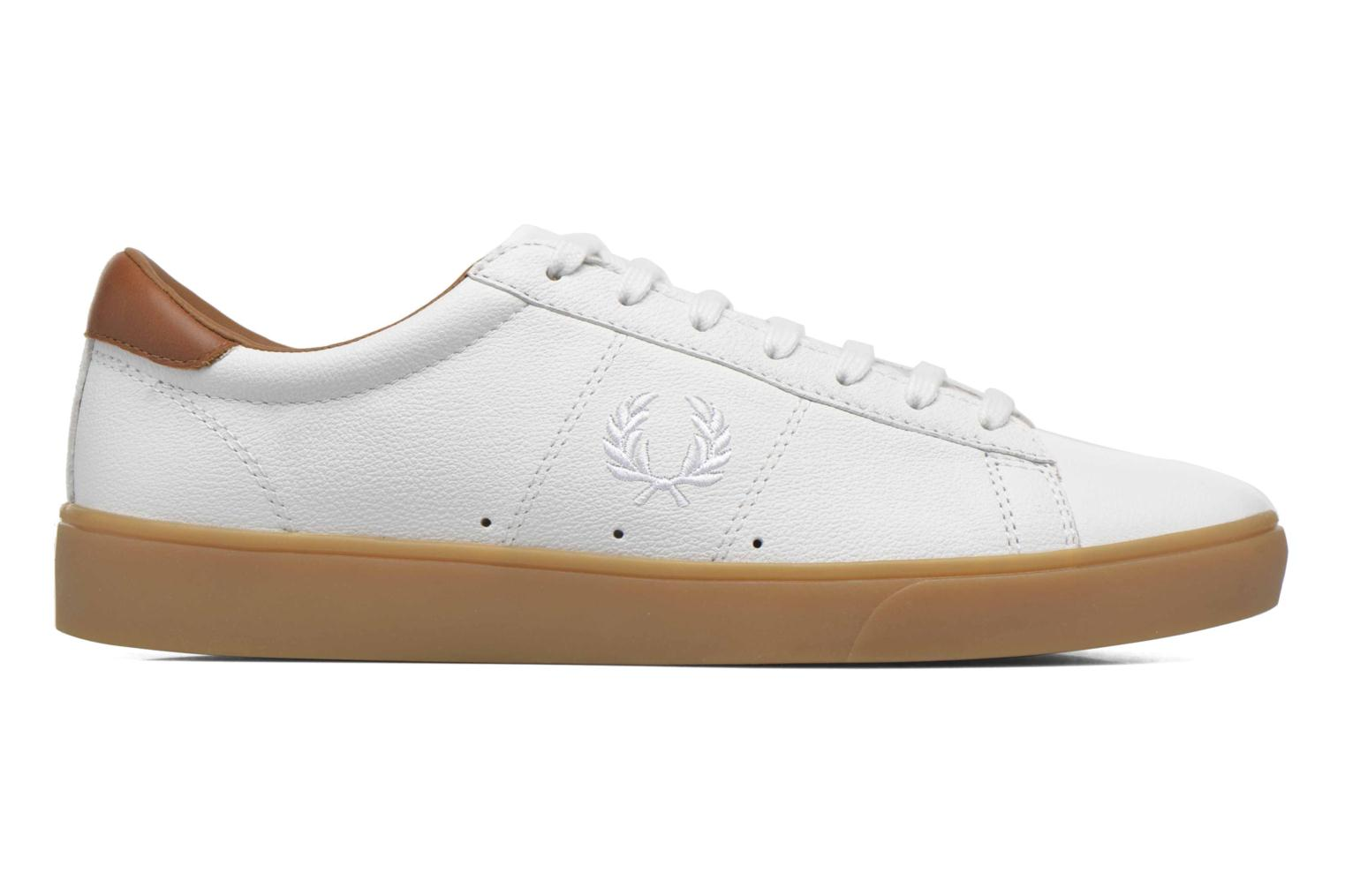 Baskets Fred Perry Spencer Tumbled Leather Blanc vue derrière