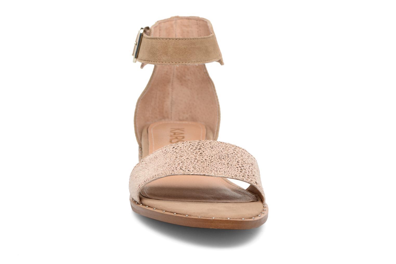 Sandales et nu-pieds Karston Sovia Beige vue portées chaussures